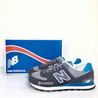 New Balance 574 Black Blue Grey