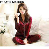 Baju Tidur Piyama Pajamas Satin silky velvet Cewek/Wanita Dewasa PP
