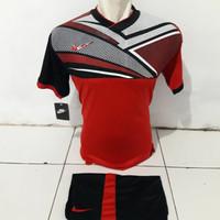 Kaos Futsal Setelan Bola Nike NY merah