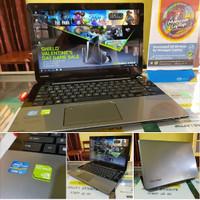 laptop seken TOSHIBA L40-A GOLDEN ALMUNIUM TOUGH SERIES