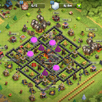 akun clash of clans tH 10 minimax buat war lawan war th 8 dan 9 awal