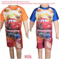 Baju Renang Anak TK Karakter Cars