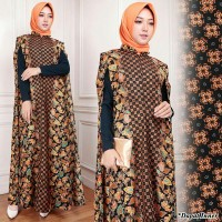 model baju muslim gamis terbaru dan modern KAFTAN JUBAH BATIK