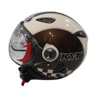 KYT Elsico #2 Dark Cream Helm Half Face -