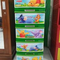 Jual Lemari Winnie The Pooh Plastik Susun 5 Napolly Asli Murah