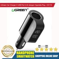 HS UGreen Car Charger 2 USB Port 3.4A dengan Cigarette Plug - CD115