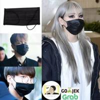 Masker Kain Kasa Hitam / Black KPOP, Import Korea