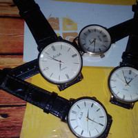 Jam Tangan Wanita Merk Alba Kulit Black Leather
