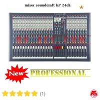 New Murah !!! Mixer Soundcraft Lx 7 Ii ( 24 Channel ) FREE ONGKIR
