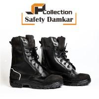 Sepatu PDL EXTRA SAFETY Damkar bahan kulit sapi asli uk 39-43