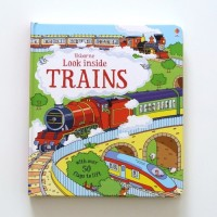 Harga look inside trains english word buku cerita anak usborne import | Pembandingharga.com