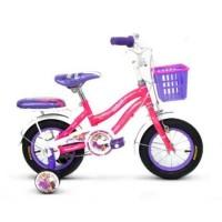 12in Wimcycle Rapunzel CTB Lisensi Sepeda Anak Perempuan Usia 2-4 Thn