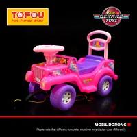 Mainan Anak Mobil Dorong Lokal Jeep Barbie Pink Murah