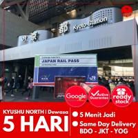 JAPAN KYUSHU NORTH RAIL PASS 5 HARI (DEWASA)