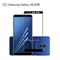 Tempered Glass Samsung Galaxy A8 2018 Full Color Full Cover