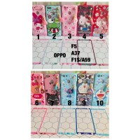 Jual softcase case MURAH oppo F5 A37 F1S doraemon hello kitty stitch melody Murah
