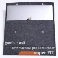 Tas Laptop Berkualitas Sleeve New Macbook Pro 2016 touch bar Wool Fel