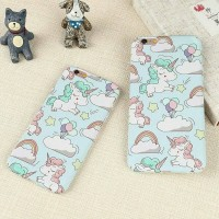 New Casing HP CHUBBY UNICORN iPhone 5 5s SE 6 6s Hard