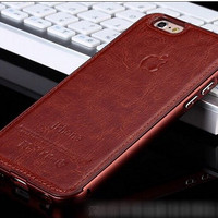 New Casing HP HP Unik Premium Leather Brown Iphone 5 5s 6 6s 6 Plus