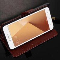 Casing Kulit HP Xiaomi Redmi Note 5A Flip Wallet Cover