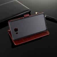 Casing Kulit HP Samsung Galaxy C9 C9 Pro Flip Wallet Cover