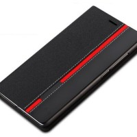 Casing Kulit HP DENIM Sony Z5 Plus Premium Dual Softcase Flip Cover