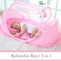 kasur kelambu bayi lipat / portable baby bed crib anti nyamuk