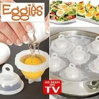 Eggies (Alat Pencetak Rebus Perebus Pemecah Telur Telor) As Seen On TV
