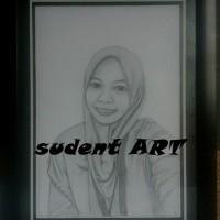 lukisan sketsa pensil TEMA tersenyumlah dunia