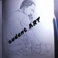 lukisan sketsa pensil 20 R sangat nyata