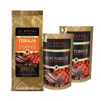 Bundling JJ Royal Coffee Toraja Ground Bag 200 gr Free 2 Kopi Tubruk 1