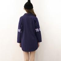 Harga kemeja wanita baju murah kemeja baseball art atasan luaran coat | Pembandingharga.com