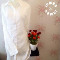 BAJU TERBARU PROMO Kemeja blus wanita putih polos zara lembut body