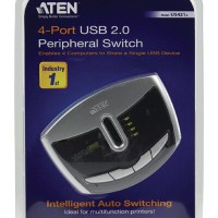 ATEN US421A 4-Port USB 2.0 Peripheral AutoSwitch