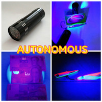 Senter /flashlight led uv( ultraviolet) 9 led + baterai