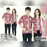 SB Collection Couple Atasan Juita Abaya Blouse Dan Kemeja Batik Pria