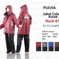 SPECIAL Jaket Celana Plevia Rush 811 Motif Kotak Kotak Mantel Hujan R