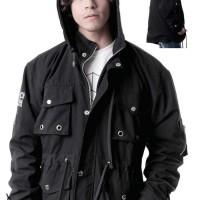 jaket parka pria warna hitam polos keren distro gshp original elegan