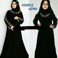 abaya/dress/jubah/gamis couple azwa ibu & anak plus pashmina