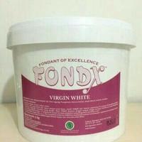 Fondx virgin white, fondant 5kg (KHUSUS GOJEK, JNE JANGAN ATC)