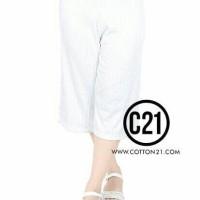celana kulot pendek putih