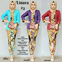 Kebaya batik modern model sarimbit Linara - baju batik wanita