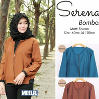 jaket bomber outer jacket wanita polos casual hijab simpel simple