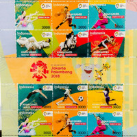 Full Sheet Perangko ASIAN GAMES 18th Jakarta Palembang 2018