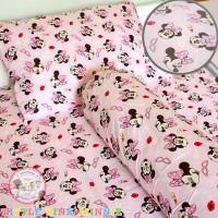 Sprei Anak Petite Elle Bedding Little Pink Minnie 160x200x40