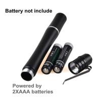 Senter Cree Mini LED Ungu Alumunium Body 3Watt 2x AAA Battery MURAH