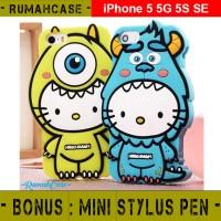 iPhone 5 5S 5C 5G SE Hello Kitty Monster 3D Cute Case Casing Karakte