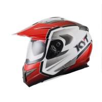 KYT ENDURO #1 Helm Full Face - White Red