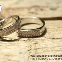 cincin nikah emas putih 9k AuAg spesial .