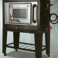 Black Gas Oven Zeppelin 75Cm Satu Pintu
